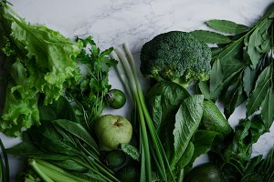 Fresh green food