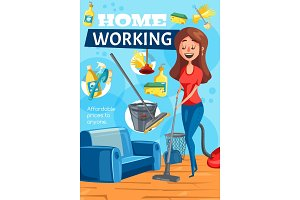 Home cleaning, clean house service