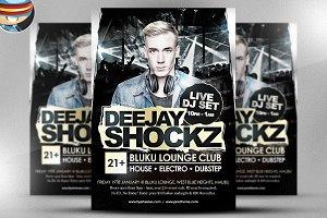 Shockz DJ Flyer Template