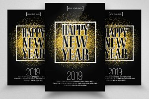 New Year 2019 Psd Flyer Templates