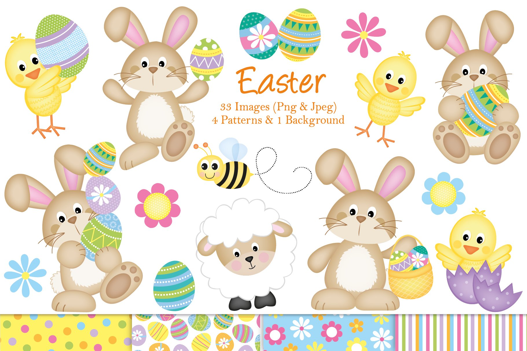 Easter Bunny Clipart ~ Illustrations ~ Creative Market