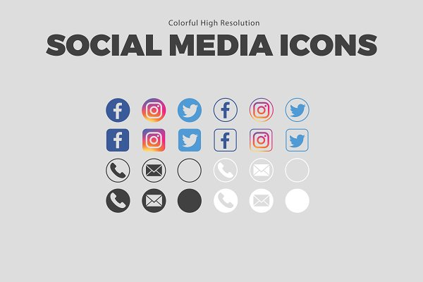 SALE Colorful Social Media Icons