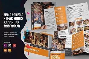 Food Menu Bifold-Trifold Brochure v3