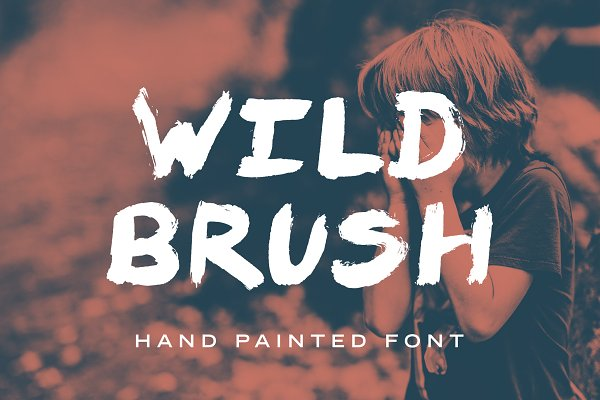 Display Fonts - Wild Brush