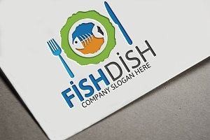 Fish Dish Restaurant Logo