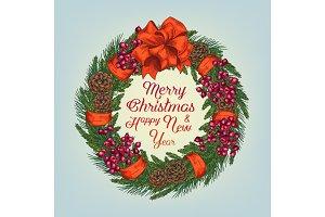 Vector Cristmas greeting card