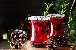 glass of hot mulled wine for the new