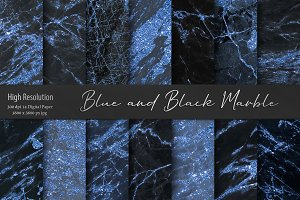Blue and Black Marble Textures