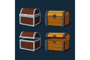 Pirate chest or isolated trunk