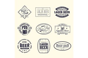 Beer labels and stickers