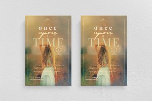 Once Upon A Time Flyer Template