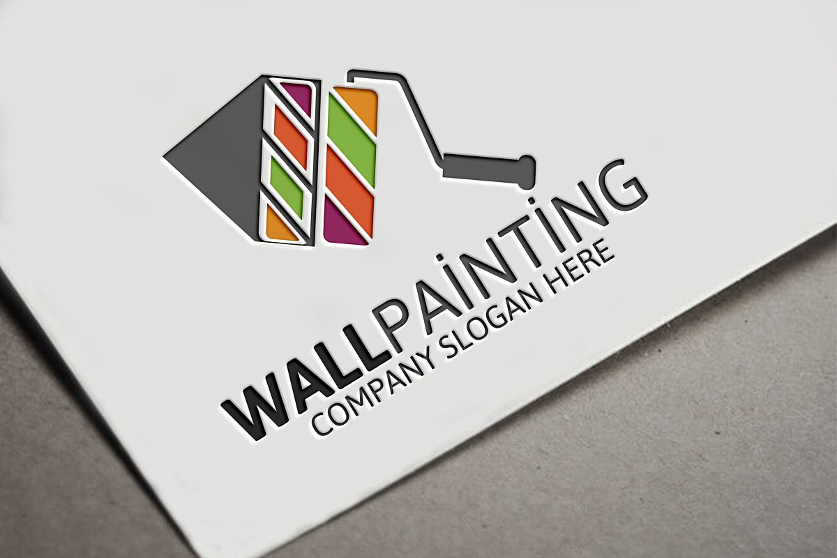 Wall Painting Logo Logo Templates Creative Market
