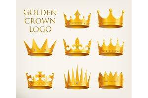 Golden crowns logo