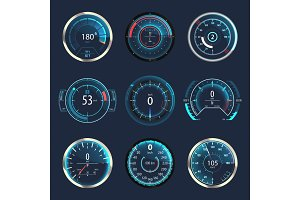 Car or automobile speedometer