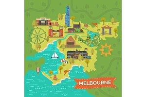 Melbourne,Australia map