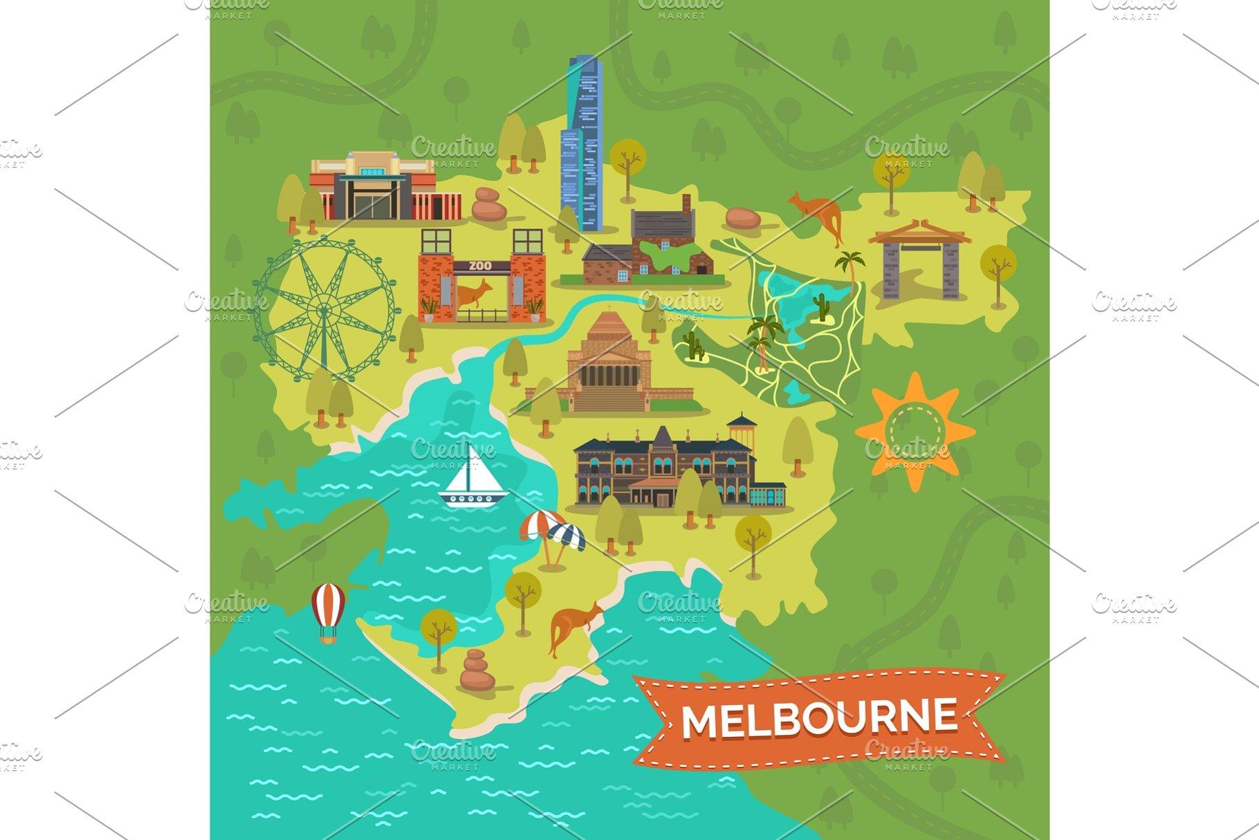 Melbourne Map Australia.Melbourne Australia Map