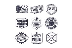 Logo for car repair service station