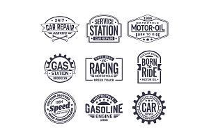 Labels for gas station