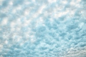 Soft fluffy white & blue clouds