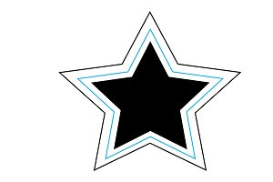 Star icon blue and black vector