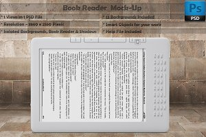 Book Reader Kindle Mockup Vol 5
