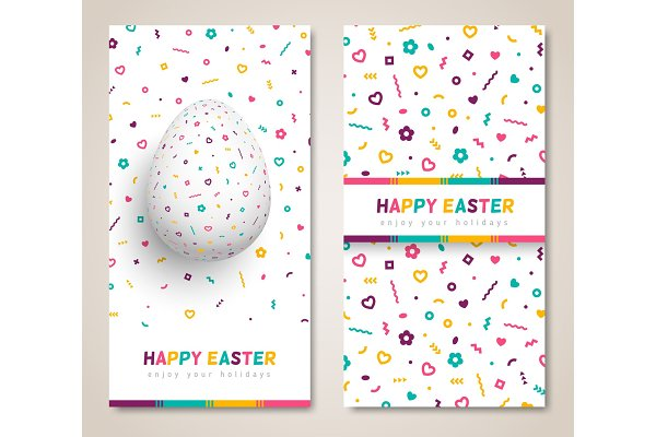 Easter greeting cards set