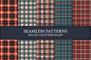 5 Scottish Seamless Patterns