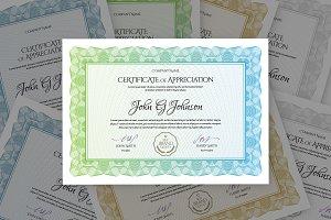 Multipurpose Template Certificate
