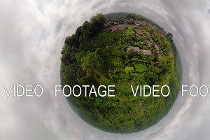 tropical landscape with rainforest
