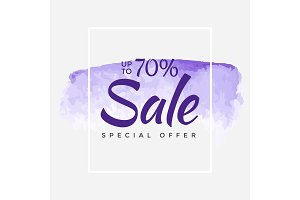 Sale final up to 70% off sign over