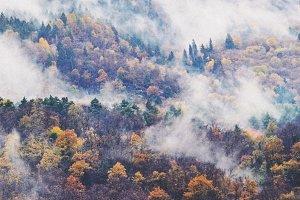 Foggy Mountain Stock Photo