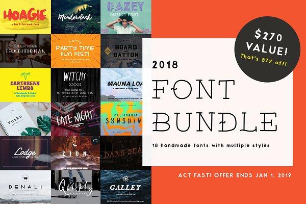 2018 Font Bundle!!