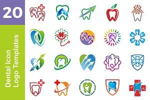 20 Logo Dental Icon Templates Bundle