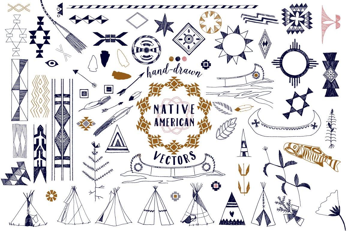 Native American Graphics Amp Patterns Illustrations
