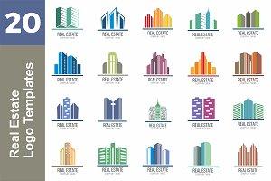20 Logo Real Estate Templates Bundle