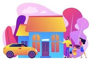 Family house concept vector