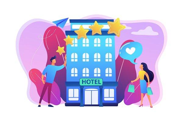 Boutique hotel concept vector