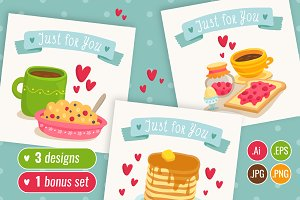 ♥ 3 cute & yummy card designs ♥