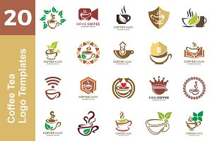 20 Logo Coffee Tea Templates Bundle