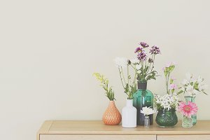 Flowers in Vases Home Decor Photo
