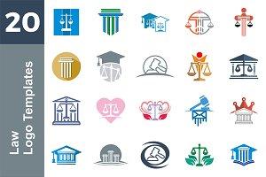 20 Logo Law Templates Bundle