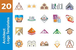 20 Logo Architect Templates Bundle