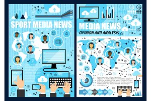 Mass media news. Mobile devices