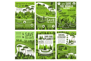 Green forest ecology and environment