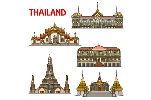 Thai travel landmark of Bangkok
