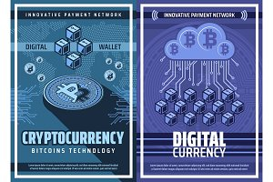 Bitcoin cryptocurrency, blockchain