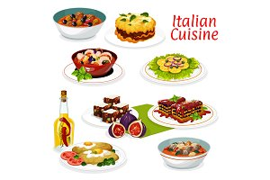 Italian meat and seafood dishes