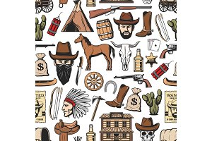 Wild West cowboy, sheriff pattern