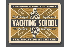 Yacht anchor and sail boat knot