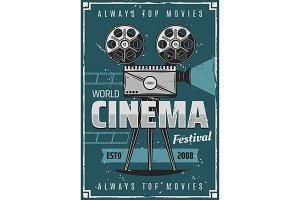 Movie, film reel and filmstrip